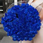 101 Синяя Роза (70/80 см.)