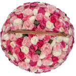Корзина MIX из 101 пионовидной розы