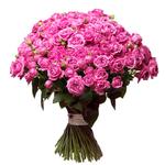 Букет из 49 пионовидных роз Мисти Баблз «Розовое кружево»