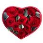 Букет из 9 красных роз в коробке в форме сердечка «Влюбленное сердце»