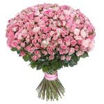 101 Розовая Кустовая Роза (50/60 см.)