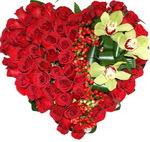 Цветочная композиция «Розы с орхидеей»