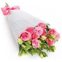 Букет из 11 розовых эустом «Любовный эликсир»