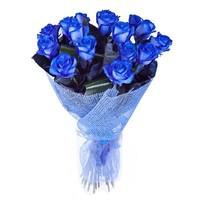 Букет из 15 синих роз «Звёздная ночь»