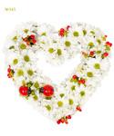 Цветочная композиция «Ромашковое сердце»